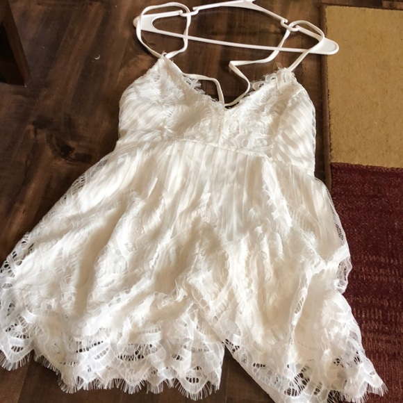Other - White lace romper